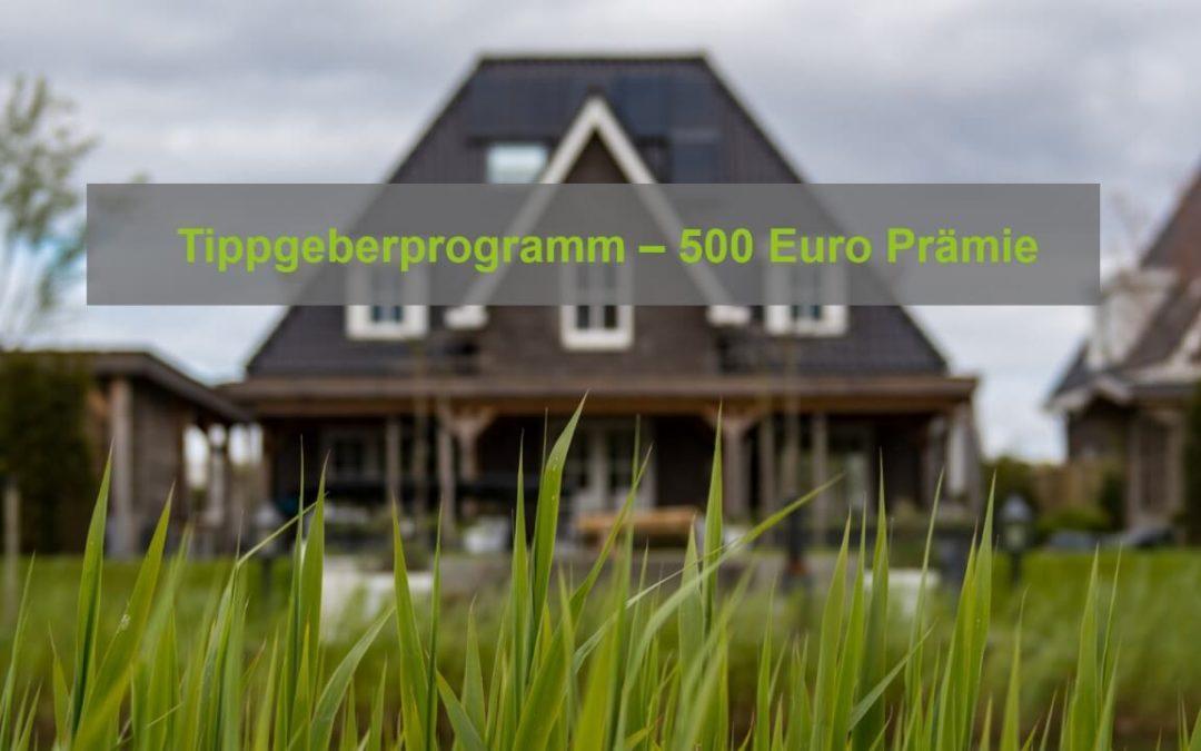Neues Tippgeberprogramm bei Immocademy – 500 Euro Prämie